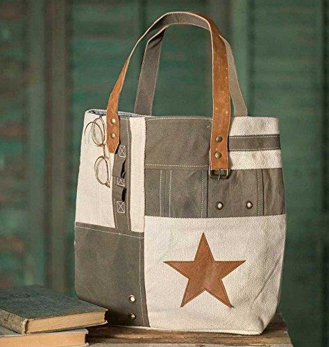 Star Patchwork Tote Bag