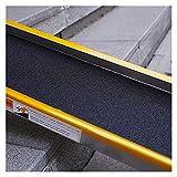 Rampas 100cm / 150cm Antideslizante Rampa para Silla de Ruedas, Utilidad Movilidad Rampa de umbral para Home Steps...