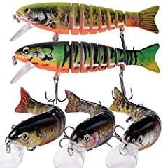 Make Fishing Simple And Fun - Our lures fully imitate fish habits. Using the fish's body, color and the bait sound when swimming is easy to attract fish. You may catch many fish at one time to share with your friends. The meaning of lures is not only...