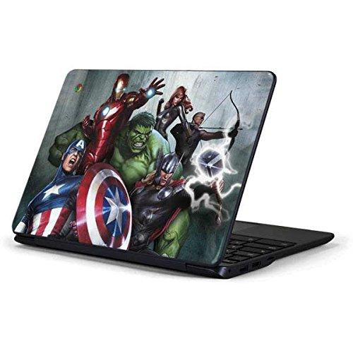 Skinit Decal Laptop Skin for Chromebook 3 11.6in 500c13-k01 - Officially Licensed Marvel/Disney Avengers Assemble Design