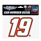 WinCraft NASCAR Joe Gibbs Racing Martin Truex Jr. NASCAR Martin Truex Jr. #19 Car Number Decals, Multi, na (23467320)