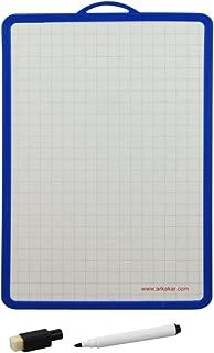 Waytex 931260 Ardoise Blanc quadrillée avec Feutre/Effacette185 x 260 mm