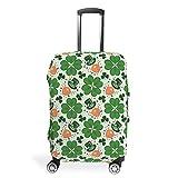 Protector de equipaje de viaje para el Día de San Patricio de 18 a 32 pulgadas para equipaje, blanco (Blanco) - Chanpin55123
