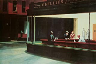 (24x36) Edward Hopper Nighthawks Art Print Poster