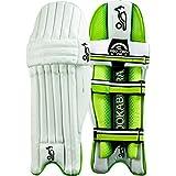 Kookaburra Kahuna 400 niños críquet almohadillas pierna Mens guardias, color Blanco - blanco, tamaño Right Handed - Youth