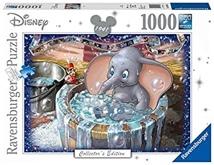 Ravensburger Puzzle 1000 Piezas, Dumbo, Puzzle Disney, Rompecabezas Ravensburger de Alta Calidad, Edad Recomendada 12+