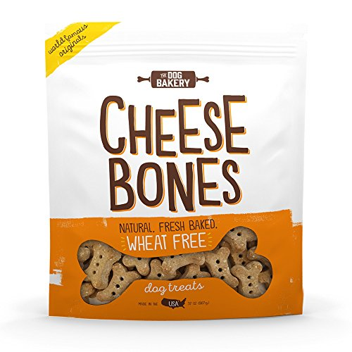 The Dog Bakery Wheat Free Bones Natural Made in The USA Healthy Dogs Treat Biscuits Bone Treats Great for Training Limited Ingredients Crunchy Cheddar Cheese (Cheese, 2 LB Bag, Original Size Bones)