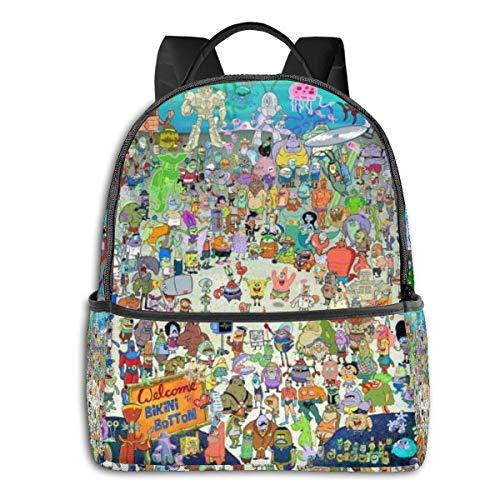 Mochila de Bob Esponja  para estudiantes adolescentes  niños y niñas  libro de viaje