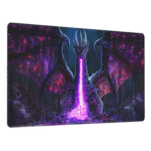 BHROSE Large Gaming Mouse Pad,Purple Dragon Purple Moon Mouse Pad,Slip Mouse Pad - Portable Large Desk Pad,Custom Mouse Mat for Women and Men,XXL Mouse Pad. 15.8x29.5inx0.3cm (40cmx75cmx0.3cm)