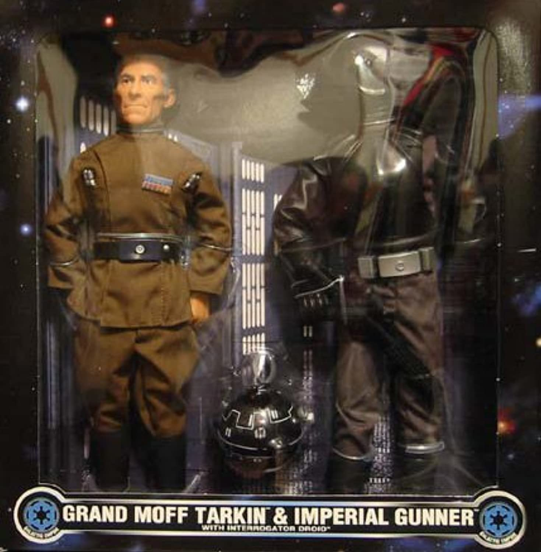 Grand Moff Tarkin und Imperial Gunner  A New Hope  FAO Schwarz Exclusive in Box 12  Inch, 30 cm Actionfigur - Star Wars Power of the Force Collection 1997 von Hasbro