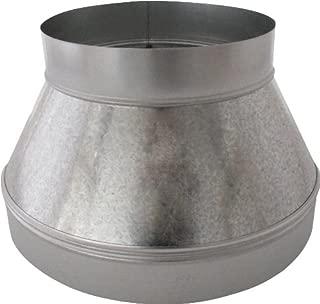 Speedi-Products SM-RDP 128 12-Inch by 8-Inch Round Galvanized Plain Reducer