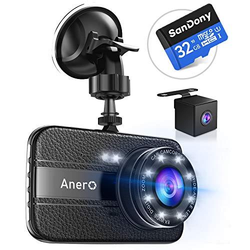 【最新版16Gカード付き】 ドライブレコーダー 前後カメラ 1080PフルHD 1800万画素 ドラレコ 170°広視野角 S...