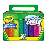 Crayola 512048 Washable Sidewalk Chalk 48 Assorted Bright Colors 48 Sticks/Set
