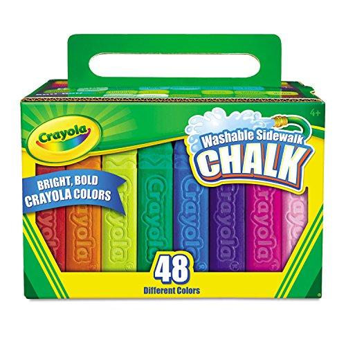 Crayola 512048 Washable Sidewalk Chalk 48 Assorted Bright Colors 48 Sticks/Set