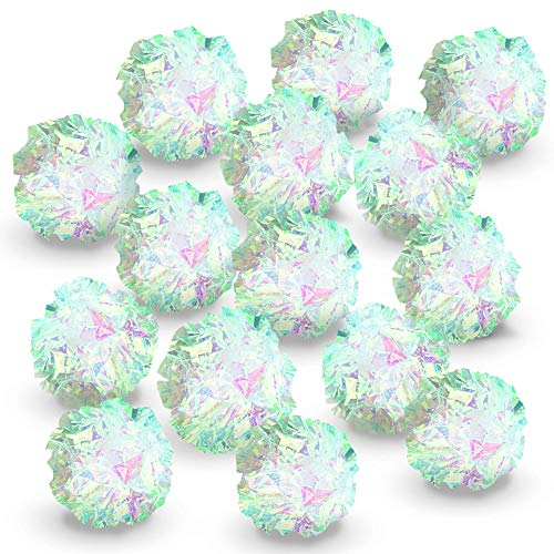 Meric Mylar Crinkle Balls, 2-Inches, Save Your Toes with Irresistible...