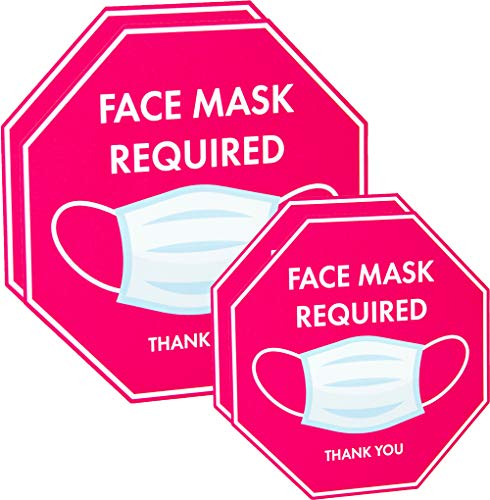 TRUSTY Removable and Reusable Face Mask Required Signs (Set of 4)