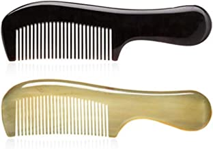 LGFSM Comb, A Comb Made By Hand-polished With Horn Material Of Cattle, Is A Very Healthy Material And Can Be Presented As A Gift (available In Nine Combinations) (Color : Style3)