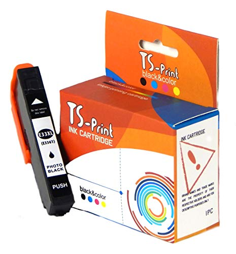 TS-Print 33XL 33 XL Epson Remanufacturado Cartucho de Tinta Negro ...