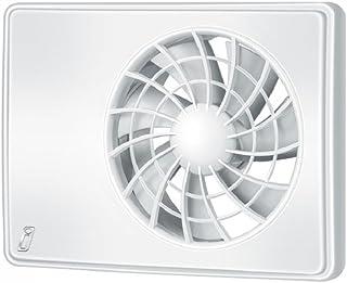 /Ø 100 mit Timer//Nachlauf, silber//Aluminium Vlano 100 Simple T Alu-Front Badl/üfter Timer Nachlauf Haus-L/üfter Ventilator Rauml/üfter