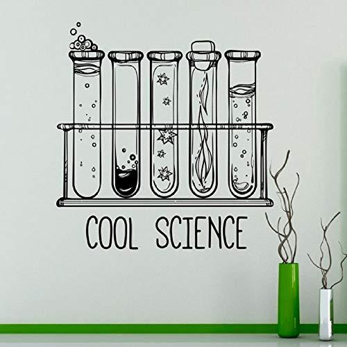 Labor Wandtattoo Coole Wissenschaft Reagenzglas Vinyl Aufkleber Chemie Klassenzimmer Dekoration Künstler Home Wandbild 42 * 43cm