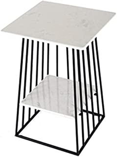 Side Table, Side Table Single Marble Reinforced Side Table Living Room Side Table Small Practical Table Square Bedroom Sid...