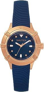 Nautica Womens Quartz Watch, Analog Display and Rubber Strap NAPCPR002