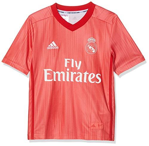 adidas Real 3 JSY Y Camiseta, Niños, Multicolor (Correa Rojviv), 140
