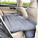 Shag Car Travel Air Bed PVC Inflatable Mattress Pillow Camping Universal SUV Back Seat Couch with...