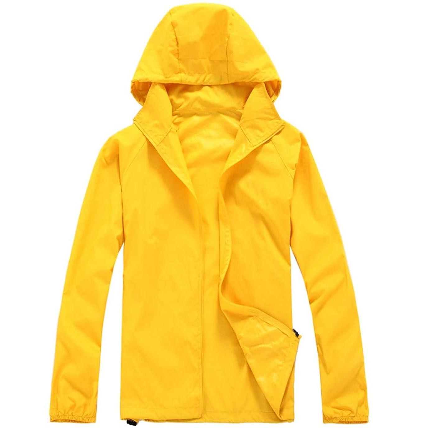 モーション報いるアイザックCAFUTY 男性と女性のためのアウトドアスポーツ、ハイキングやレジャー用品通気性の防水速乾性のある服 (色 : イエロー, サイズ : L)