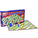 M.Y Snakes & Ladders - Traditional Snakes and Ladders Board Game for Kids & Adults