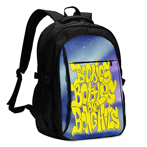 USB Large Capacity Travel Business Backpack, Just Another Weekend Picture 17-Inch Laptop Bag