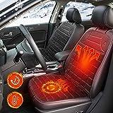 N/H Edisari Auto Sitzheizung Heizkissen Heizauflage, 12V Universal Autositz Heizstufe Beheizte Sitzauflage Sitzkissen Beheizbare Kissen mit Temperatur Kontrolleur für den Vordersitz von Auto