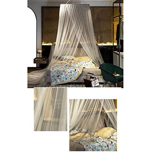 SXJC Mosquitera con Domo, Carpa para Cama Instalación Sin Perforaciones Dosel para Cama para Niñas, Camas Ideal para Dormitorio Decorativo, Viajar,Silvergray