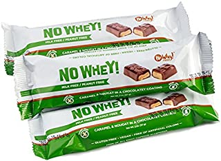 No Whey Foods - Chocolate Candy Nougat and Caramel Bars (3 Pack) - Vegan, Dairy Free, Peanut Free, Nut Free, Soy Free, Gluten Free