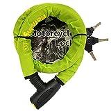 HarmonyBike バイクロック ワイヤーロック 24×1200mm ミドリ