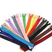 SHUHAO 10個入り/袋28センチメートル35センチメートル40センチメートル50センチメートル55センチメートル60センチメートルロング見えないジッパーDIYナイロンコイルジッパーのために縫製衣服アクセサリー (Color : Mixed Color, Size : 55cm)