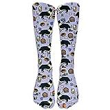 ouyjian Border Collie Compression Socks Soccer Socks High Socks Long Socks For Running,Travel,Pregnancy,Shin Splints,Nursing.