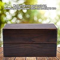 ランチボックス、ウッド弁当箱、キャリーランチ用の2層無臭スナック