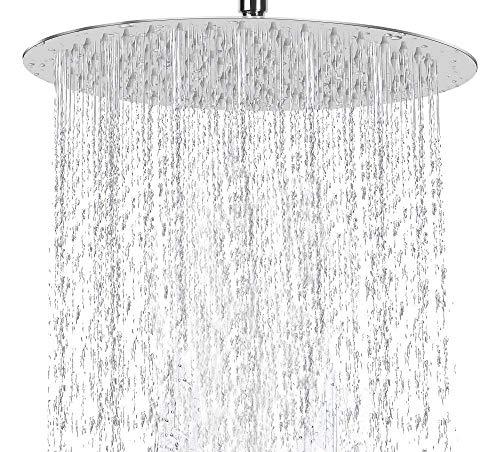 Eyourlife 1 Pack High Pressure Shower Head, 10 Inch 304 Stainless Steel Rainfall Showerhead, Ultra-Thin Design-Best Pressure Boosting