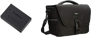Canon LP-E17 - Bateria para cámara EOS M3 + AmazonBasics - Bolsa para cámaras DSLR y Accesorios (tamaño Mediano) Negro y Gris