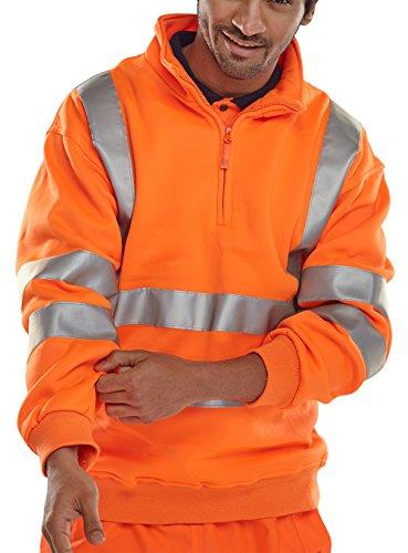 BSeen BSZSSENORXL En471 Orange Sweatshirt mit Reißverschluss XL