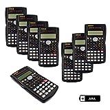 Renus - Calcolatrice scientifica a due righe per studenti e insegnanti 8 PCS...