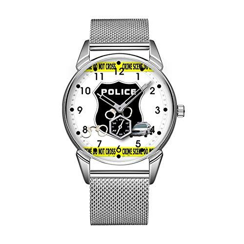 Mode wasserdicht Uhr minimalistischen Persönlichkeit Muster Uhr -709. Polizei Tatort