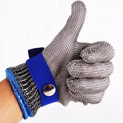 Talla M guante seguridad corte prueba puñalada resistente al acero inoxidable malla...