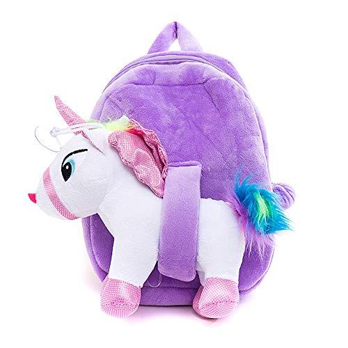 Kinder Reiserucksack Baby Cartoon Unicorn Plüschtasche White Horse Below 20L