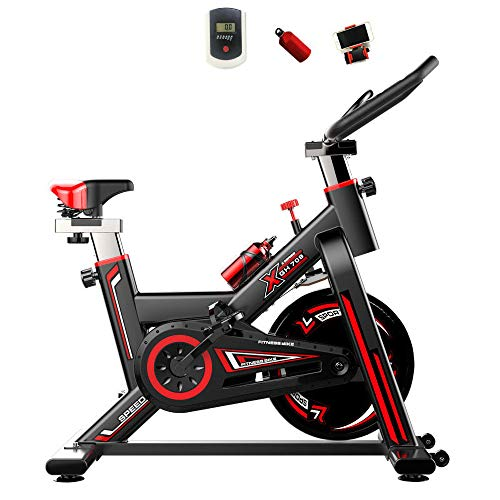 Sale!! LIDAUTO Exercise Bike Stationary Indoor Cycling Bycicle Belt Drive Indoor LCD Display for Hom...