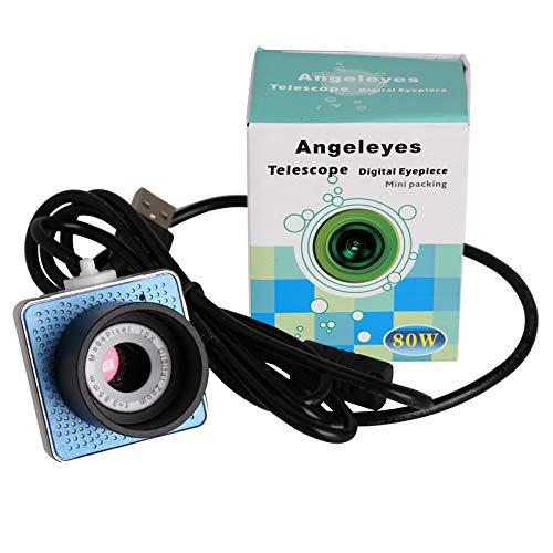 POFET Telescopio monocular, telescopio digital de 1.25 pulgadas con cámara ocular electrónica, para puerto USB de Astrofotografía-640x480 píxeles