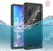 Galaxy Note 10 Waterproof Case, Dooge IP68 Certified Shockproof/Dirtproof/Snowproof Full-Sealed Full-Body Heavy Duty Protective Case [Fingerprint ID Support] with Screen Protector for Galaxy Note 10