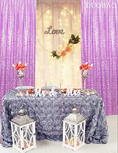 Sequin Curtains 2 Panels 2FTx8FT Glitter Sequin Backdrop Curtains Sequin Photo Backdrop Sequin Window Curtains Payette Sequin Curtain Panels Wedding Party Background Drapes (2FTX8FTx2PCS, Lavender)