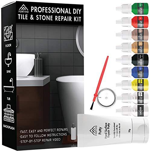 Tile Repair Kit Stone Repair Kit - Porcelain Repair Kit for Cracked Stone, Crack Chip Ceramic Floor - Tile Gap Filler & Repair Tile Paint - Granite Filler Repair Kit & Laminate Floor Scratch Remover